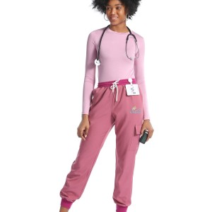 Scrub Uniforms With Embroidery For Women | Breathable Scrub Tops&Jogger Pants | Medical Scrub Uniform Manufacturer