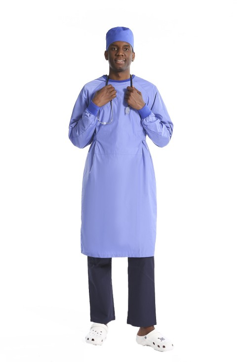 手术衣可水洗 |医生用可重复使用的弹性颈部和袖口手术服 |手术衣批发