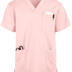Unisex Scrub Tops Stretch | Stretch V-neck Short Sleeve 5 Pockets Scrub Tops Cotton | Medical Scrub Tops Wholesale