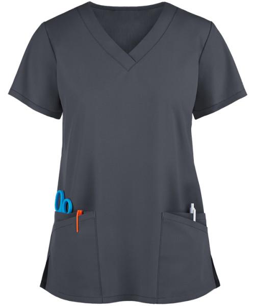 Scrub Tops For Women   4 Pockets V-neck Scrub Tops Stretch Loose   Customizable Scrub Tops Quality Wholesale