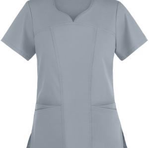 Women's Scrub Tops Cotton | Solid Modern 4-Pocket Sweetheart Neck Scrub Tops | Wholesale Medical Scrub Tops Quality
