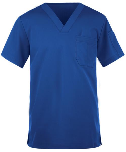 Quality Scrub Tops For Men | 2-Pocket V-Neck Short Sleeve Scrub Top Stretch | Wholesale Medical Scrub Tops Affordable