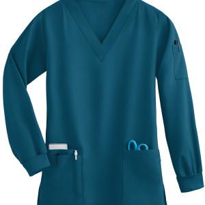Unisex Scrub Tops Elastic | 4-Way Stretch 5-Pocket Long Sleeve Scrub Tops | Wholesale Quality Scrub Tops Affordable