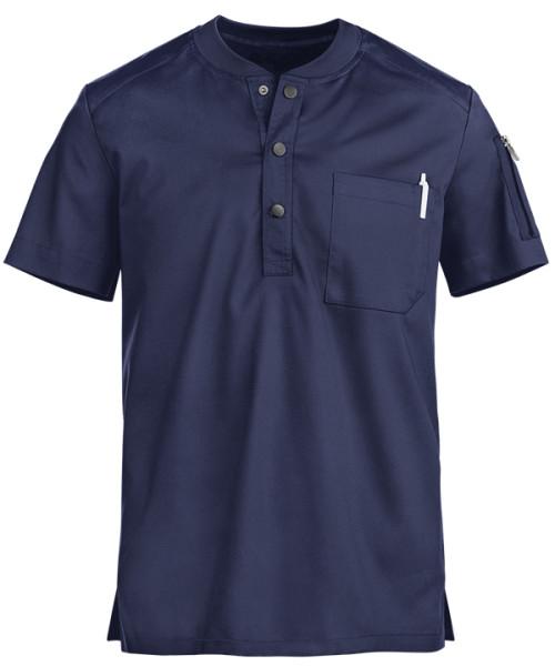 Scrub Tops For Men   Short Sleeve 2-Pocket Button Henley Scrub Tops Elastic   Custom Design Scrub Tops Affordable