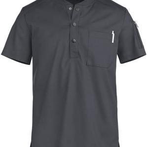 Scrub Tops For Men | Short Sleeve 2-Pocket Button Henley Scrub Tops Elastic | Custom Design Scrub Tops Affordable
