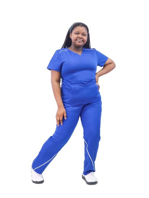 Plus Size Stretch Scrub Sets   Loose Short Sleeve V-neck Scrub Nurse Uniforms   Scrub Uniforms In Bulk
