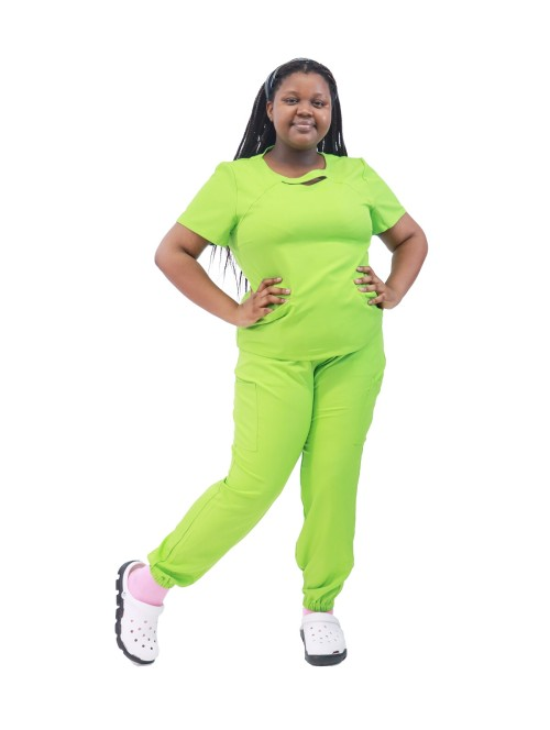 大码弹力磨砂制服|女士时尚短袖加码磨砂上衣慢跑裤 |磨砂制服批发供应商