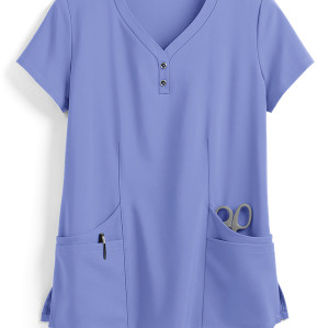 Stylish Scrub Tops For Women | Solid Color 4-Pocket Henley Scrub Tops Cotton Quality | Medical Scrub Tops Wholesale