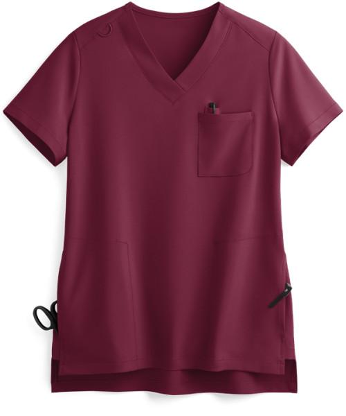 Stylish Scrub Tops Ladies | 3-Pocket High Low Hem V-Neck 4 Way Stretch Scrub Tops | Medical Scrub Tops Wholesale