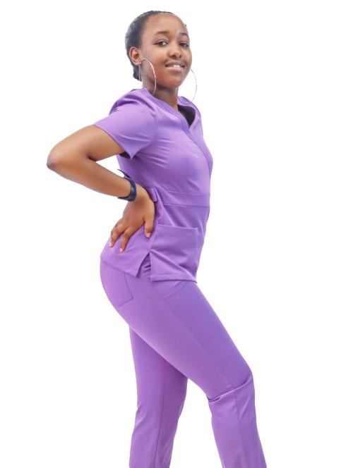 Women's Scrub Hospital Uniform | V-neck Short Sleeve 4 Way Stretch Scrub Uniform Sets | Scrub Nurse Uniform Wholesale