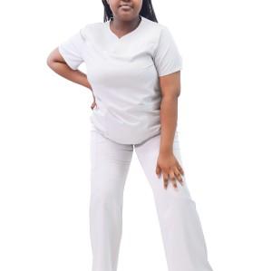 Plus Size Womens Scrub Sets | Short Sleeve 4 Way Stretch Scrub Nurse Uniforms | Custom Medical Uniforms Affordable