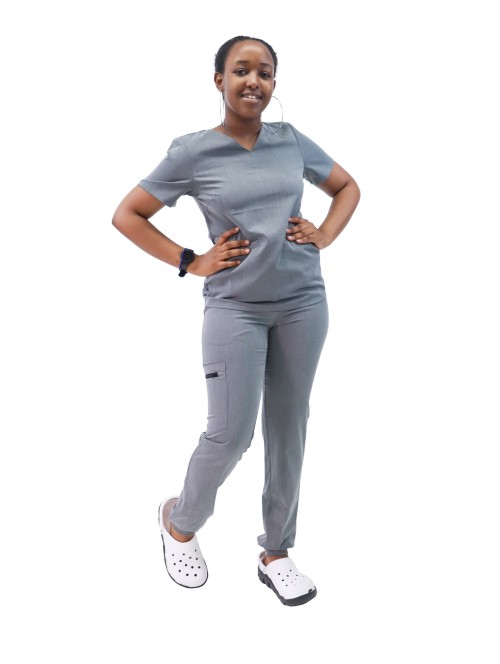 Scrub Uniforms For Nurses | V-neck Short Sleeve Stretch Scrub Tops&Jogger Pants | Quality Scrub Uniforms Wholesale