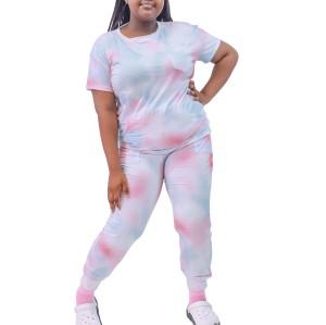 Women's Colorful Tie Dye Scrubs | 4 Way Stretch Short Sleeve Plus Size Scrub Tops&Jogger Pants | Custom Tie Dye Medical Scrubs