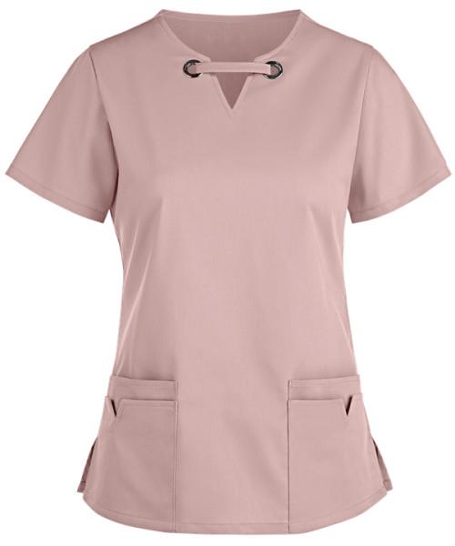 Scrub Tops For Women | Fashion 4-Pocket Large Grommet Scrub Tops Cotton | Scrub Sets Wholesale Affordable