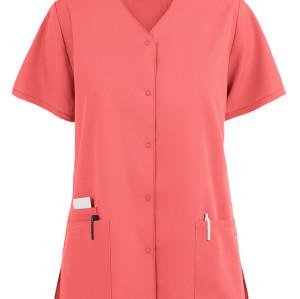 Scrub Tops Womens | 3-Pocket Snap Front Scrub Tops Cotton | Custom Scrub Tops With Logo Affordable