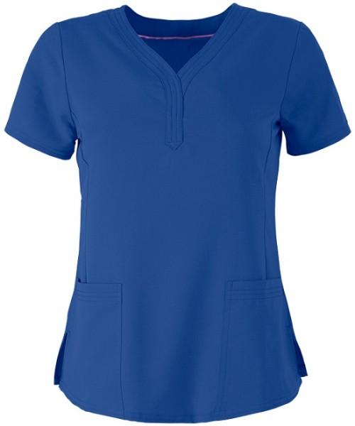 Scrub Tops For Women   Women's 2-Pocket Stretch Scrub Tops Elastic   Wholesale Quality Affordable Scrub Tops