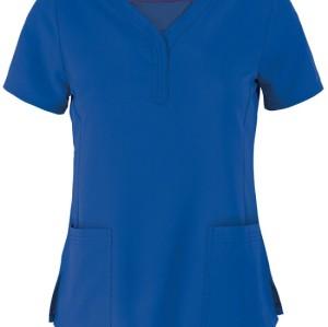 Scrub Tops For Women | Women's 2-Pocket Stretch Scrub Tops Elastic | Wholesale Quality Affordable Scrub Tops