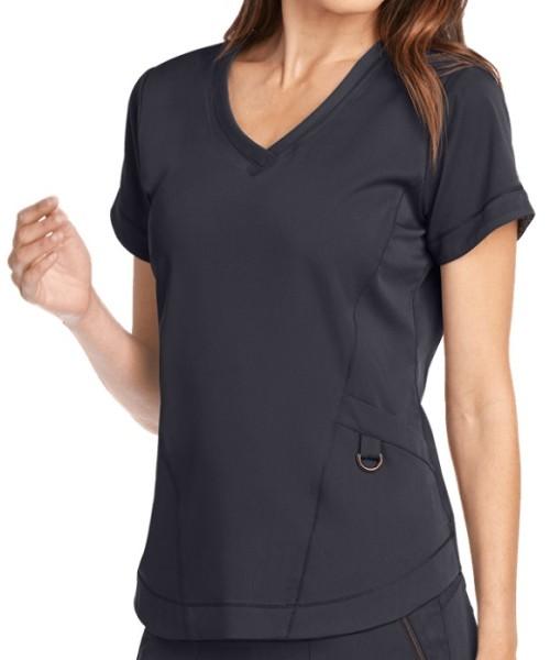 Women's Scrub Tops With Pockets | 3-Pocket V-Neck Scrub Tops Stretch | Wholesale Medical Scrub Tops