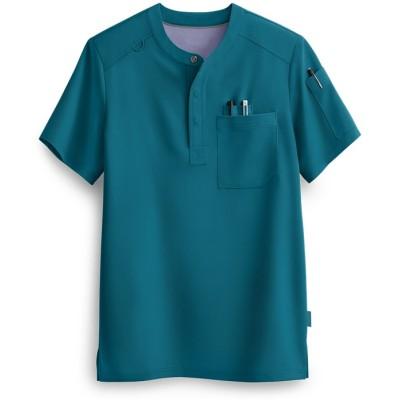 Men's Henley Scrub Tops | 3-Pocket Short Sleeve Henley Scrub Tops | Wholesale Quality Scrub Tops Online