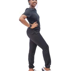Women's Scrub Sets Affordable | V-neck Short Sleeve Hospital Scrub Sets Slim Fit Tops&Jogger Pants | Scrub Sets Wholesale