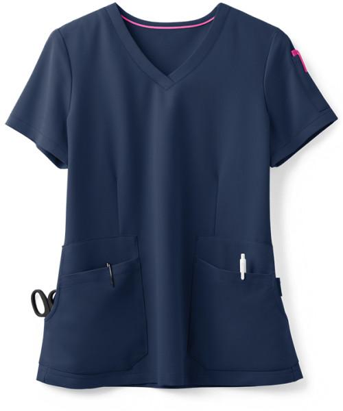 Solid Color Scrub Tops For Women | 4-Pocket V-Neck Stretch Scrub Tops Cotton | Wholesale Scrub Tops Nursing