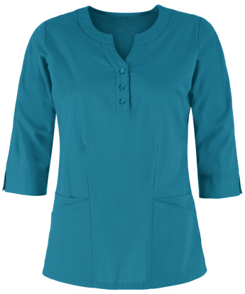 Solid Color Scrub Tops For Women | 2-Pocket Round Neckline 3/4 Sleeve Scrub Tops | Fashion Scrubs For Wholesale