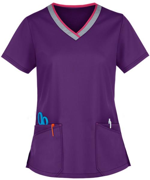 Fashion Scrub Tops For Women | 4-Pocket Active V-Neck 4 Way Stretch Scrub Tops | Wholesale Scrub Tops Online