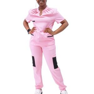女式医用磨砂制服|褶皱衣领和拼贴口袋时尚磨砂| SHOPBOP批发磨砂制服在线