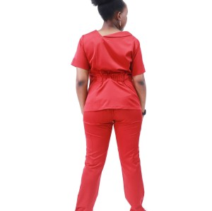 女式磨砂制服| 4 向弹力时尚短袖磨砂制服 |中国磨砂制造商