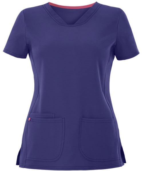 Women's Scrub Tops Cotton | Solid Color Short Sleeve 3-Pocket V-Neck Scrub Tops | Wholesale Scrub Tops Stretch