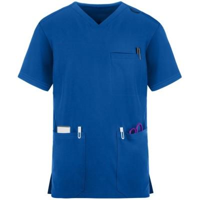 V-neck Scrub Tops For Men | 4 Way Stretch Breathable Scrub Tops Cotton | Wholesale Scrub Tops Online