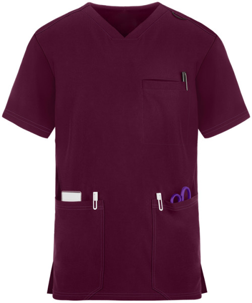 V-neck Scrub Tops For Men   4 Way Stretch Breathable Scrub Tops Cotton   Wholesale Scrub Tops Online