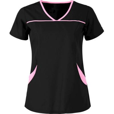 Women's Scrub Tops Elastic | 4-Pocket Princess Seam Scrub Tops Stretch Cotton | Wholesale Women's Scrub Tops Online