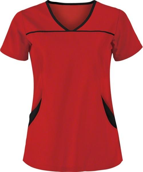 Women's Scrub Tops Elastic   4-Pocket Princess Seam Scrub Tops Stretch Cotton   Wholesale Women's Scrub Tops Online