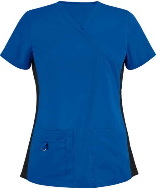 Women's Scrub Tops Personalized   3-Pocket V-Neck Side Knit Panels Quality Scrub Tops   Wholesale 4 Way Stretch Scrub Tops