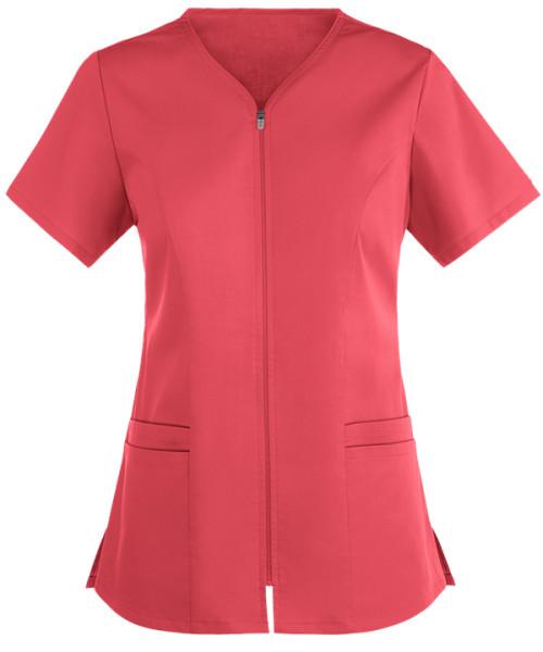 Quality Scrub Tops For Women   4-Pocket Zipper Scrub Tops Cotton Elastic   Wholesale Scrub Top With Zipper Front
