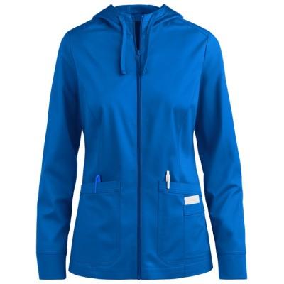 Women's Scrub Jackets Hospital | 2-Pocket Zipper Hoodie and Trim Scrub Warm Up Jackets | Wholesale Scrub Jackets Online