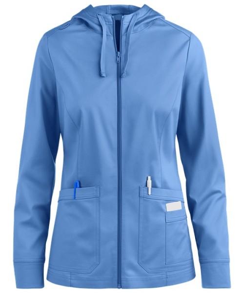 Women's Scrub Jackets Hospital   2-Pocket Zipper Hoodie and Trim Scrub Warm Up Jackets   Wholesale Scrub Jackets Online