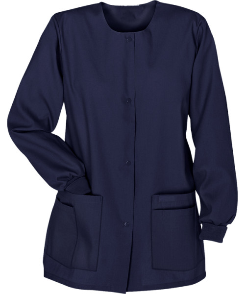 Women's Scrub Jackets On Sale   4-Pocket Front Snap Closure Warm-Up Scrub Jackets   Bulk Scrub Warm Up Jackets Wholesale