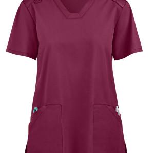 Women's Scrub Tops Elastic | 4-Pocket V-Neck Mesh Scrub Tops Functional | Wholesale Medical Scrub Tops