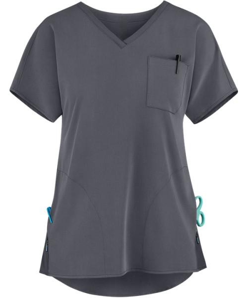 Quality Scrub Tops For Women   3-Pocket V-Neck Scrub Tops Stretch Fashion   Wholesale Scrub Tops With Logo Affordable