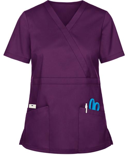 Women's Scrub Tops Elastic | 3-Pocket Mock Wrap Scrub Tops 4 Way Stretch | Custom Scrub Tops In Bulk Quality