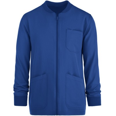 Medical Scrub Jackets Womens | 3-Pocket Warm-Up Zipper Scrub Jackets For Doctors | Custom Scrub Jackets With Logo