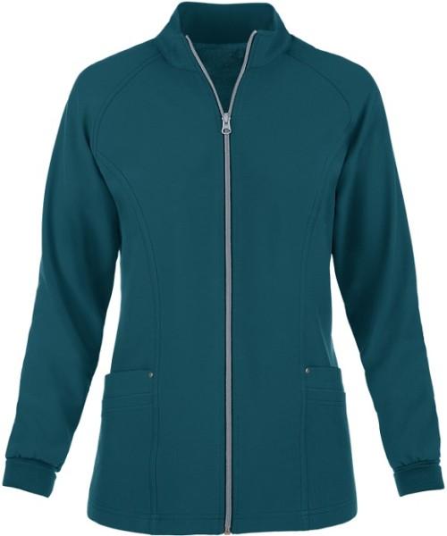Women's Scrub Jackets Hospital | 4-Pocket Raglan Zip Up Scrub Jackets | Custom Scrub Jackets Embroidered