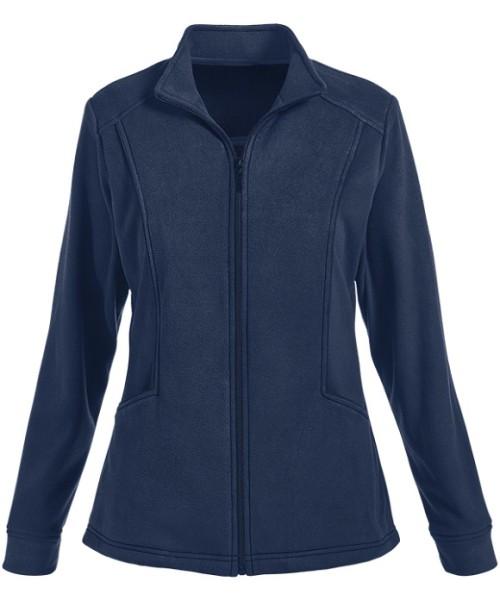 Scrub Jackets Hospital For Women   2-Pocket Zip Front Fleece Warm Up Scrub Jackets   Scrub Jackets With Logo Quality