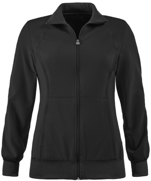 Women's Scrub Jackets With Logo Custom   2-Pocket Warm-Up Zip Up Scrub Jackets For Doctors   Scrub Warm Up Jackets Wholesale