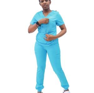 Women's Scrub Sets With Pockets | Short Sleeve 4 way Stretch Scrub Sets Uniforms&Jogger Pants | Quality Scrub Sets Wholesale