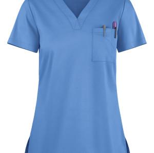 Women's Scrub Tops Durable | 1-Pocket V-Neck Stretch Scrub Tops Quality | Medical Scrub Tops Wholesale