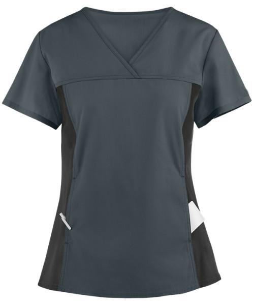 Stylish Scrub Tops Ladies   2-Pocket V-Neck Scrub Tops in bulk   Wholesale medical scrubs tops Supplier