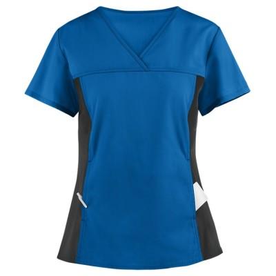 Stylish Scrub Tops Ladies | 2-Pocket V-Neck Scrub Tops in bulk | Wholesale medical scrubs tops Supplier